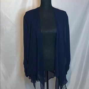 Ursula size 22W flowy navy blue shrug